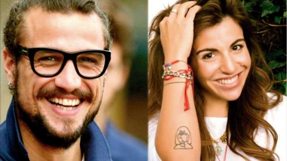 Gianinna Maradona y Daniel Osvaldo, enamorados