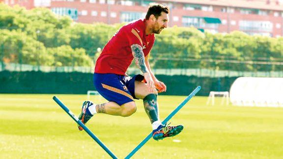 Messi quiere cortar la sequía y bailar merengue