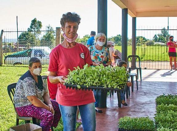 Mojón Grande se suma al programa hortícola Provincial