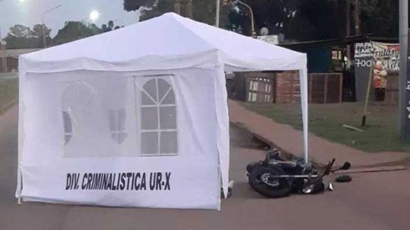 Conductor falleció tras despistar con su motocicleta