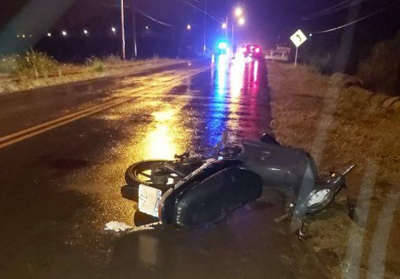 Motociclista con lesiones graves tras despistar en la ruta 225