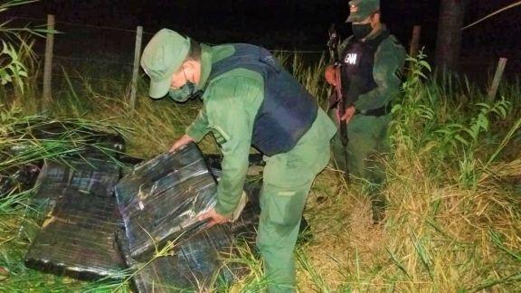 Más de media tonelada de marihuana detectada en la zona ribereña de Eldorado
