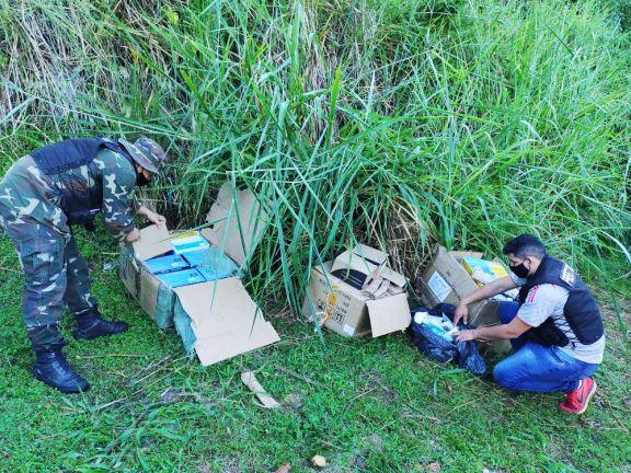 Prefectura secuestró un cargamento de artículos de contrabando en Puerto Libertad