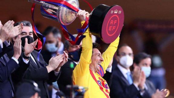 Messi brilló y Barcelona es otra vez campeón de la Copa del Rey