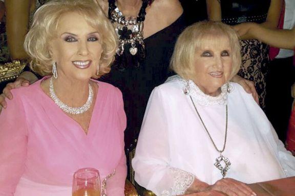 """""""Creí morir"""", dijo Mirtha Legrand al recordar el momento en que se enteró de la muerte de su hermana Goldy"""