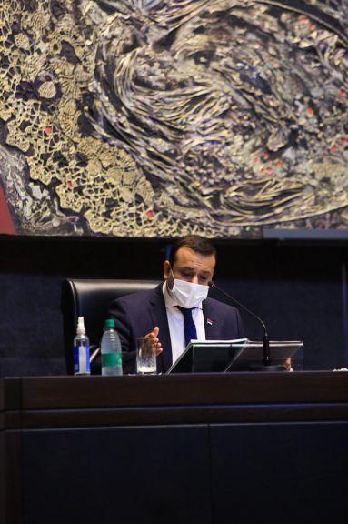 El gobernador Oscar Herrera Ahuad hizo un repaso de gestión en la Cámara de Diputados