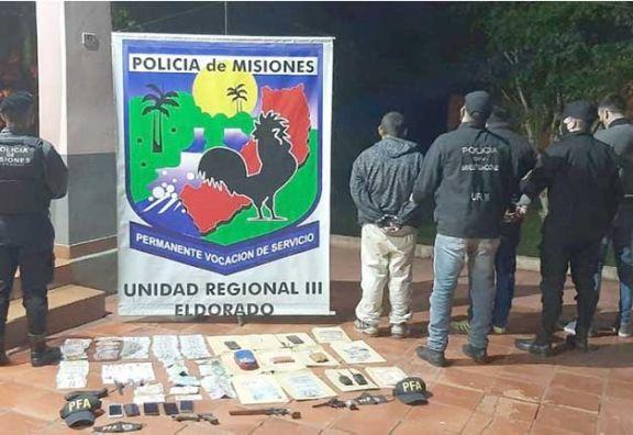 Recuperan millonario botín de entradera a empresario de Eldorado; hay 3 detenidos