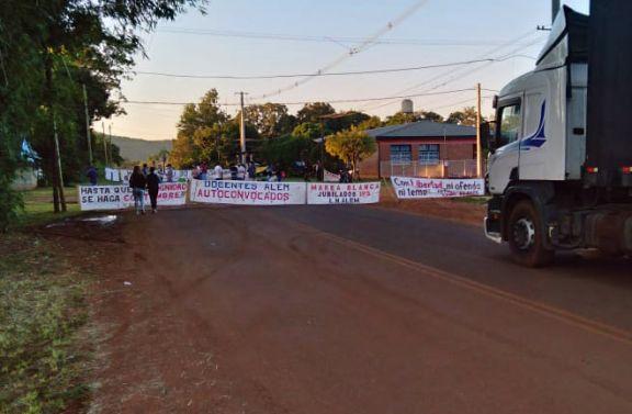 Protestas en acceso a pasos internacionales y  rutas nacionales