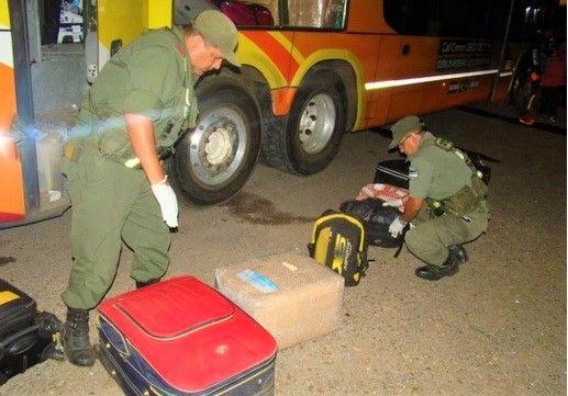 Gendarme misionero y su cómplice condenados por transportar marihuana en un colectivo
