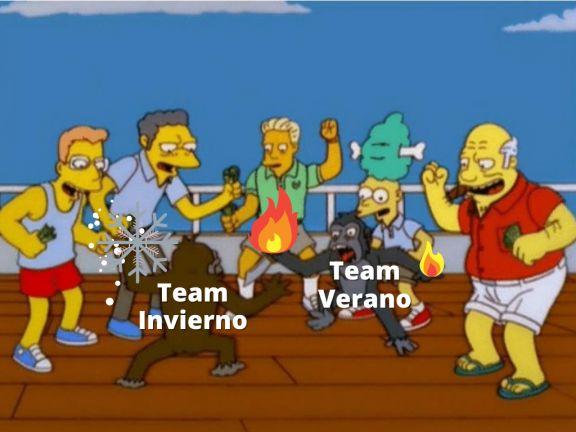 Guerra de memes en las redes sociales: Team Invierno contra Team Verano