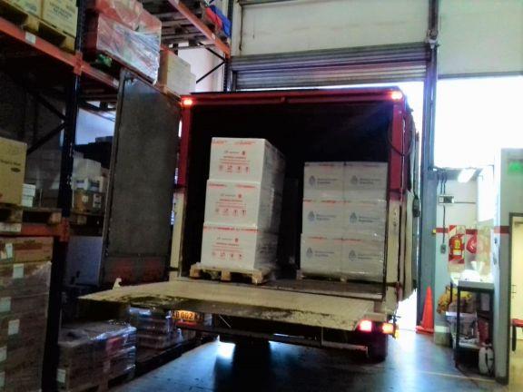 Llegaron otras 25.200 vacunas Sinopharm y serán distribuidas en todos los municipios