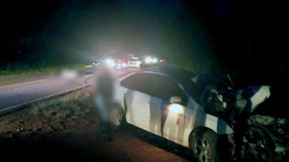 Colisión frontal entre un auto y una moto dejó dos muertos en Panambí