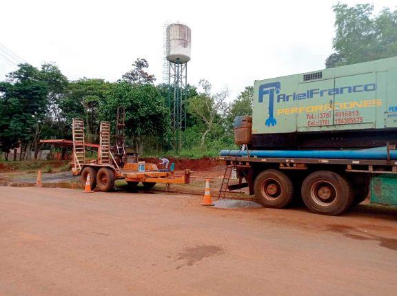 Trabajan en pozos perforados en Iguazú