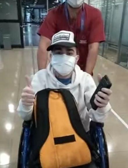Ezequiel Galeano recibió el alta y sigue su recuperación en Buenos Aires