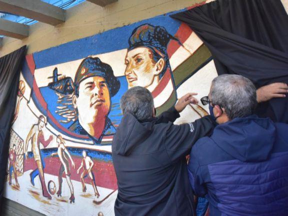 Garupá: presentaron un mural en homenaje al submarinista  Jorge Isabelino Ortiz