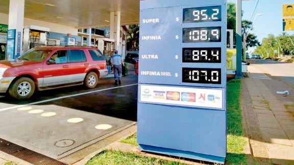 Combustibles aumentaron más de 5 pesos por litro en Misiones