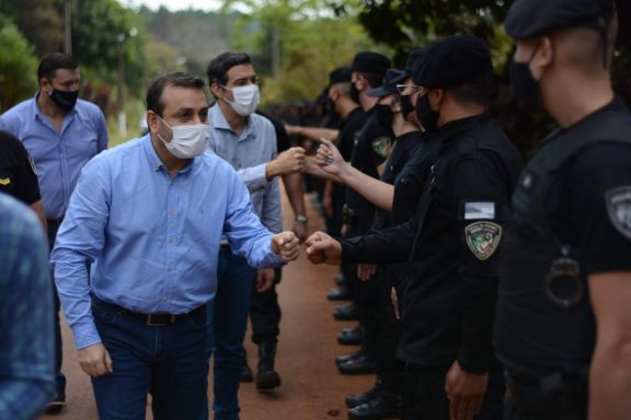 Herrera Ahuad instó a la Policía de Misiones a hacer cumplir los protocolos sanitarios