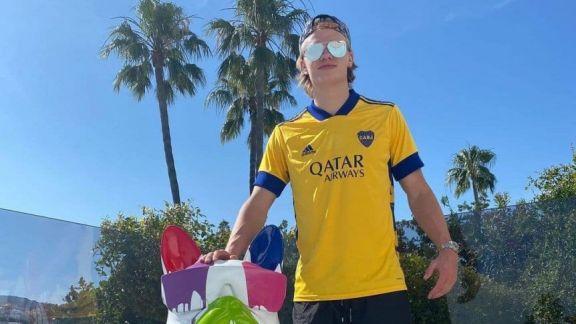 Erling Haaland se mostró con la camiseta de Boca y revolucionó las redes