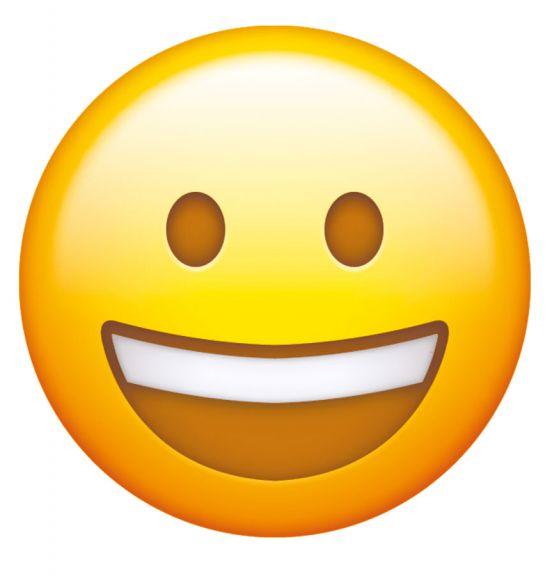 Una sonrisa colgada de la nariz