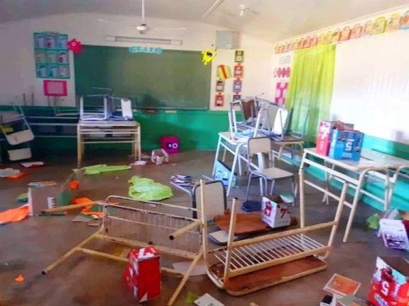 El aula satélite de la Escuela N° 833 del paraje Pinares sufrió un nuevo robo