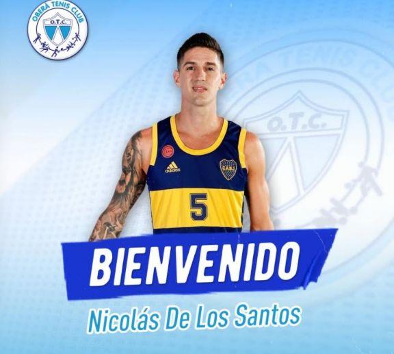 Nicolás De los Santos llega a OTC