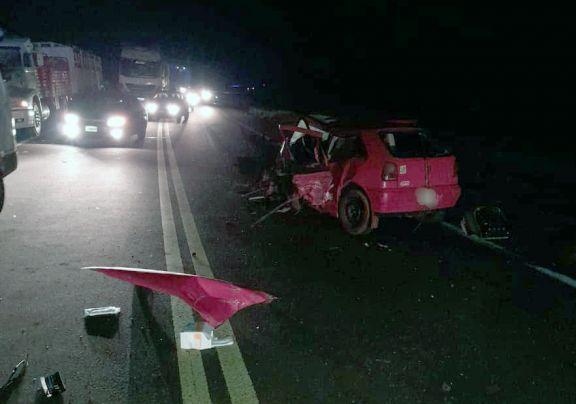 Choque frontal en Campo Viera: falleció esta madrugada el conductor del Volkswagen Gol