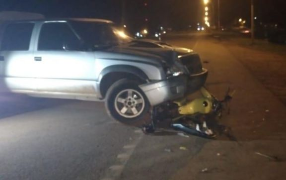 San Vicente: choque entre motocicleta y camioneta dejó una persona fallecida en ruta 14