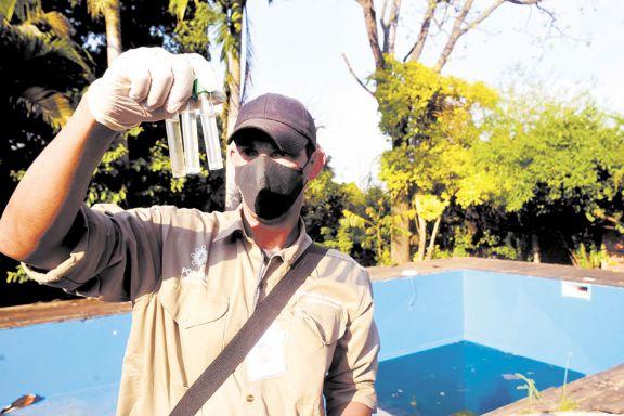 Detectaron criaderos de mosquitos en todas las casas visitadas