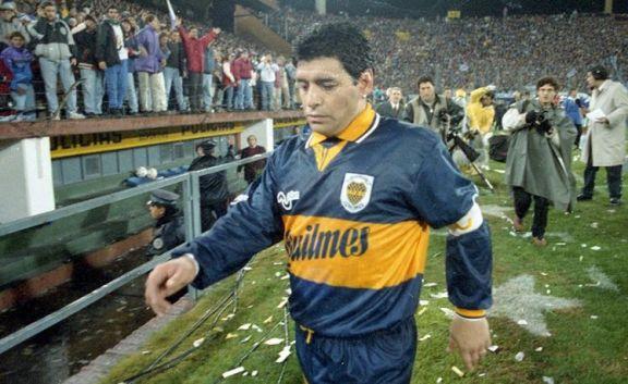 Se cumplen 25 años de la última expulsión de Maradona y del cruce con Castrilli