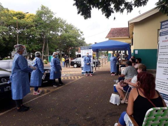 Este domingo no habrá testeos públicos en el Parque de la Salud, pero el lunes retoman