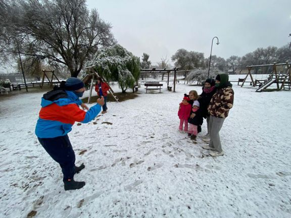 La nieve llegó a Córdoba capital por primera vez en 14 años