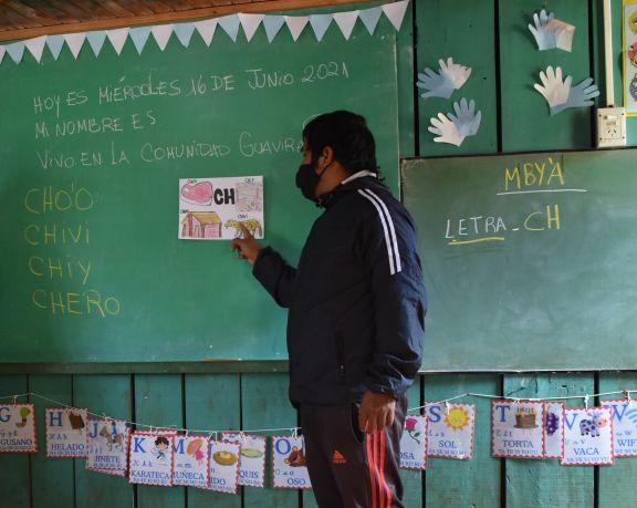 El aula satélite pertenece a la escuela 780 Hilda Gadea.  Foto: CARINA MARTÍNEZ