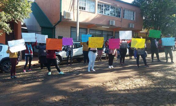 Manifestación por mejoras para los presos de Oberá