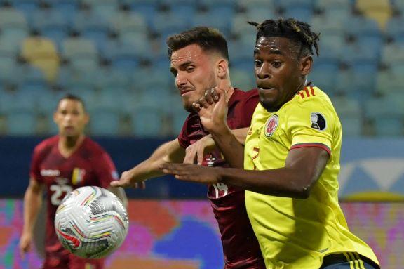 Colombia no tuvo ritmo y se quedó con un empate en cero ante la entusiasta Venezuela por el Grupo B