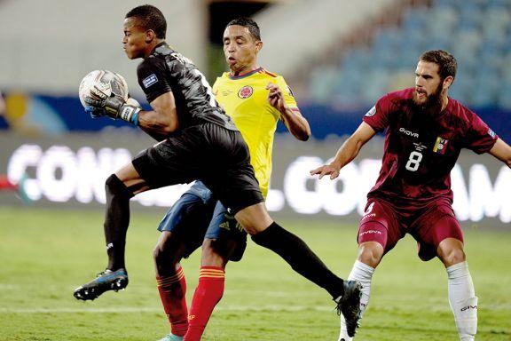 Colombia se topó con Faríñez y no pasó del cero ante Venezuela
