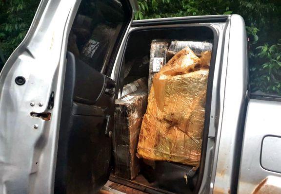 Hallaron más de mil kilos de marihuana en una camioneta