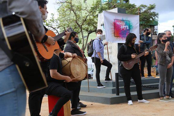 Estudiantes realizaron una intervención musical