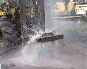 Avanzan las obras del pozo perforado del hospital de Iguazú