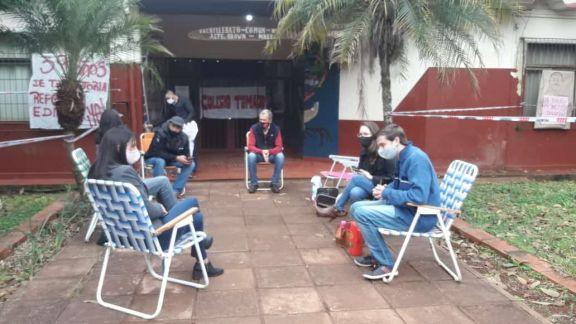 Andresito: continúa la toma en el Bachillerato Nº 3 por las precarias condiciones del edificio