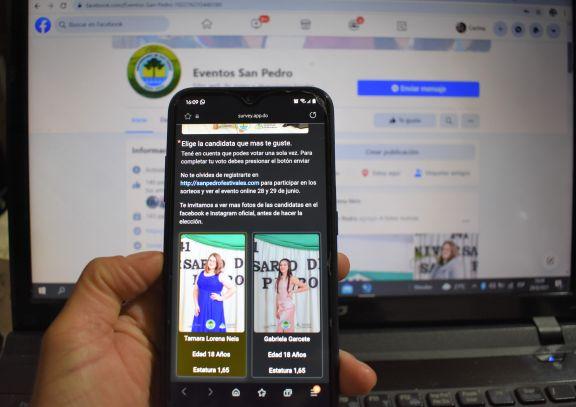Los sampedrinos ya pueden votar para elegir de forma virtual a la nueva soberana