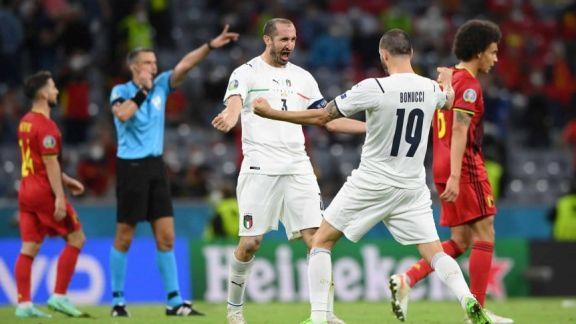Eurocopa: Italia eliminó a Bélgica y será rival de España en semis