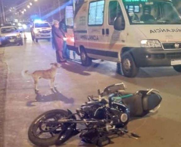 Peatón sufrió lesiones tras ser embestido por una motocicleta en Alem