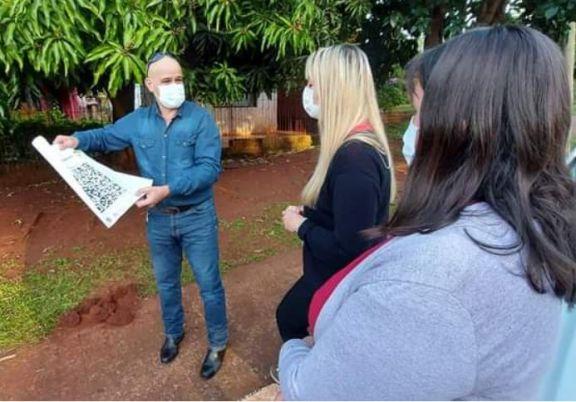 En Santo Pipó pondrán baldosas con códigos QR para fomentar la lectura