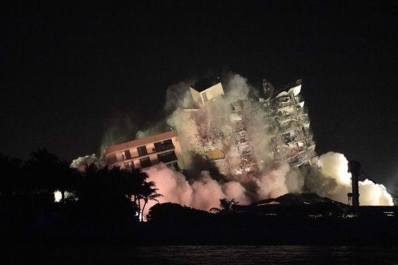 Demolieron los restos del edificio colapsado en Miami
