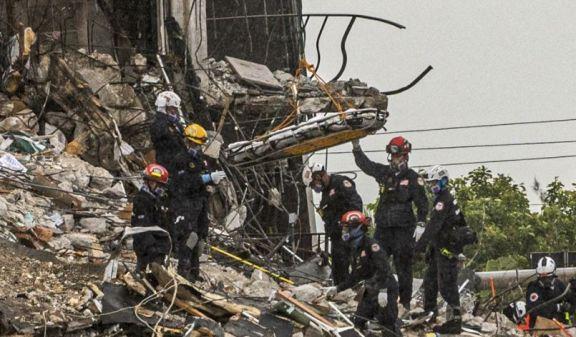 Derrumbe en Miami: encontraron 10 cuerpos y ya son 46 los fallecidos