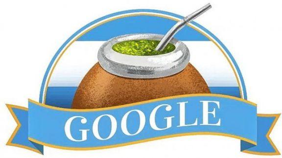 Google rinde homenaje al Día de la Independencia Argentina con el doodle de un mate