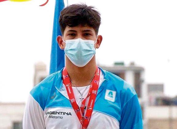 El posadeño Amarilla se coronó en lanzamiento de jabalina en el Sudamericano U20 de Atletismo