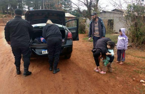 San Pedro: policías recaudaron y entregaron donaciones