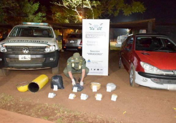 Santo Tomé: circulaba con 9 kilos de marihuana en el tubo de gas de su auto