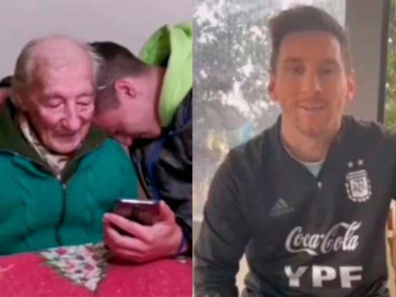 El gesto de Messi con un fan de 100 años que anota sus goles en un cuaderno